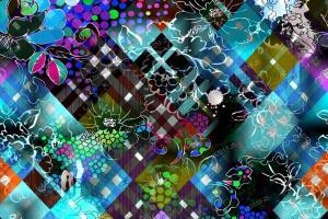 数码印花抽象几何纹