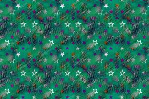 数码印花星星几何花型